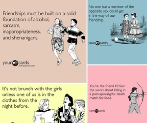 ecards, friendship, and funny image