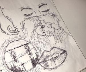 art, breakup, and doodle image