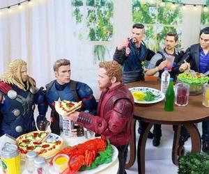 Avengers, tony stark, and captain america image