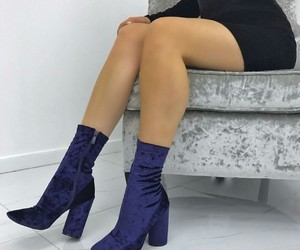 blue, booties, and boots image