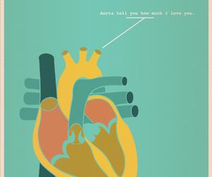 love, heart, and nerd image