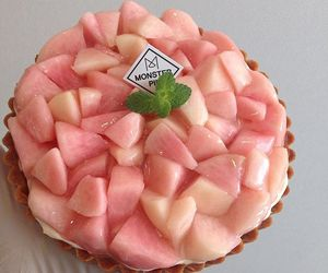 peach, pink, and cake image