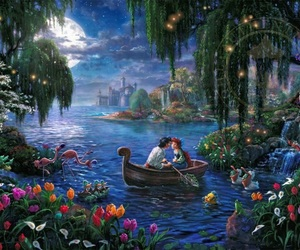 ariel, clouds, and disney image