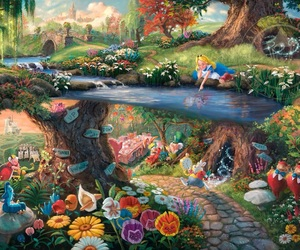 alice in wonderland, artwork, and colore image