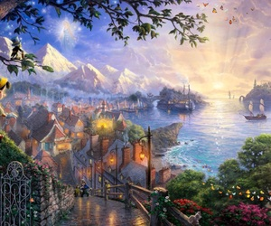 artwork, fairytale, and thomas kinkade image