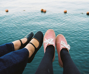 shoes, photography, and sea image