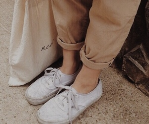 beige, shoes, and white image