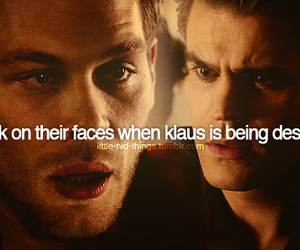 stefan, the vampire diaries, and klaus image