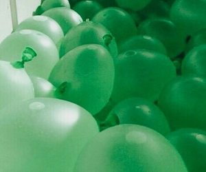 green and balloons image