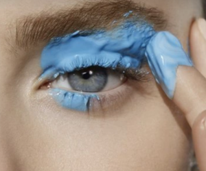 blue, fashion, and paint image