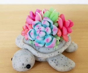 flowers, turtles, and cute image