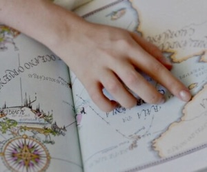 map, travel, and aesthetic image