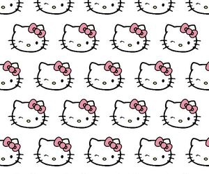 pattern and hello+kitty image