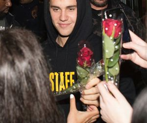 justin bieber and flowers image