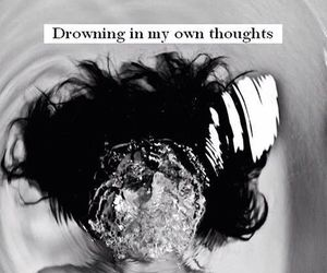 drowning, pain, and quotes image