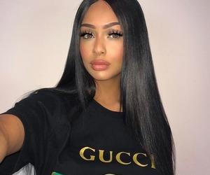girl, gucci, and makeup image