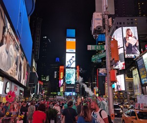 city, times square, and new york image