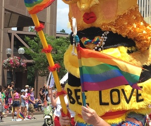 bee, gay pride, and lgbt image