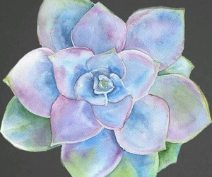 art, painting, and succulent image