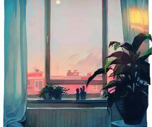 art and sunset image