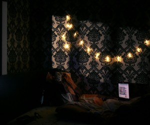 bed, cosy, and dark image