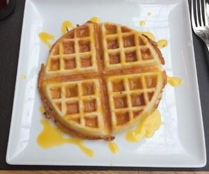 dessert, waffle, and food porn image