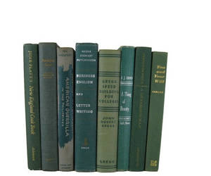 books, homedecor, and green books image