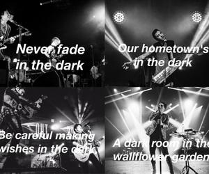 band, fall out boy, and Lyrics image