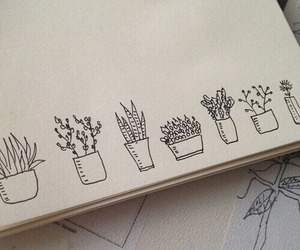 plants, art, and drawing image