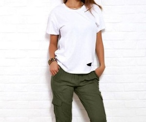 fashion, outfit, and green image