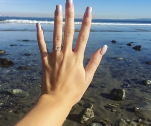 engagement, girl, and hand image