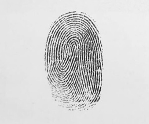 fingerprint, id, and music image