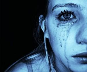 crying, sad, and sadgirl image