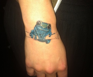 frog, paris, and tattoo image