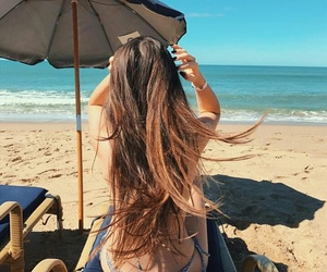 girl, beach, and goals image
