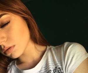 face, redhair, and girl image
