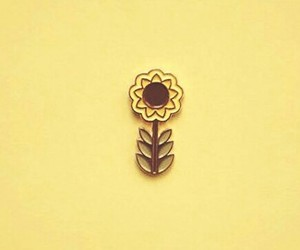 aesthetic, badge, and flowers image