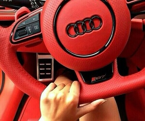 audi, red, and car image