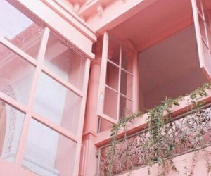 pink, aesthetic, and window image