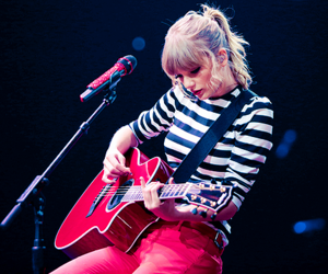 concert, red tour, and guitar image
