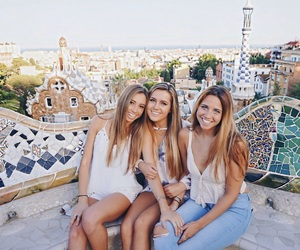 Barcelona, friend, and travel image