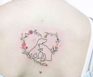 body art, cat, and flower image