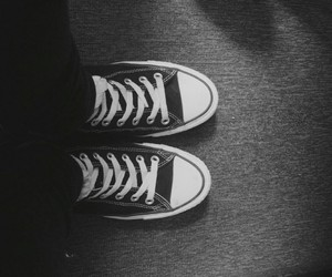 b&w, converse, and sneakers image