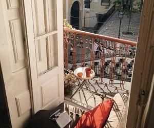 balcony, home, and coffee image