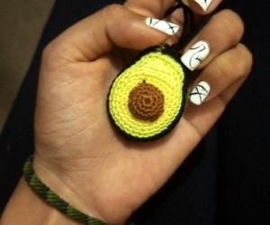 avocado and gelish nails image