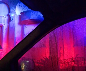 pink, neon, and rain image