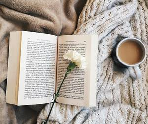 book, coffee, and photography image