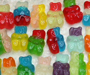 candy, bear, and gummy bears image