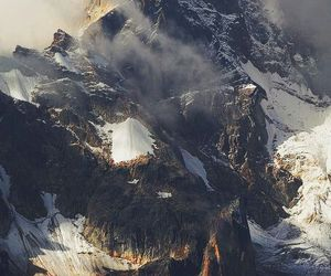 mountains, nature, and snow image