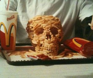 skull, food, and McDonalds image